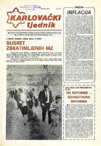 Karlovački tjednik: 1989 • 20