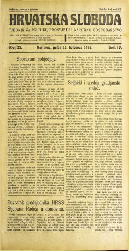 Hrvatska sloboda: 1924. • 33