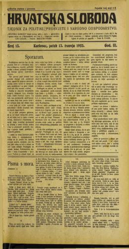 Hrvatska sloboda: 1923 • 15