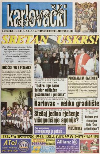 Karlovački tjednik: 2001 • 15
