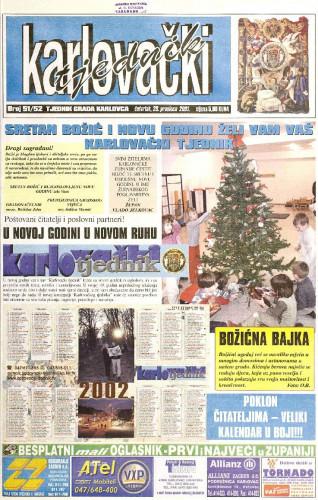 Karlovački tjednik: 2001 • 51/52