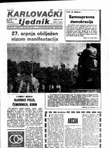 Karlovački tjednik: 1981 • 30