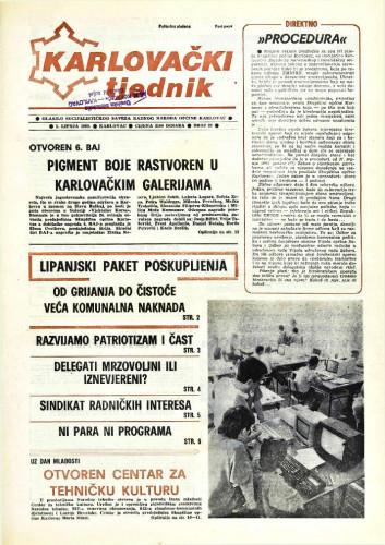 Karlovački tjednik: 1989 • 22