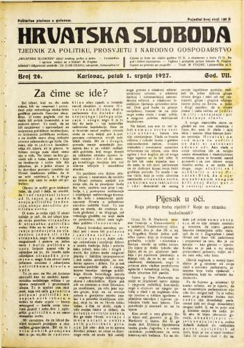 Hrvatska sloboda: 1927. • 26
