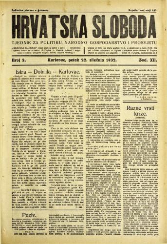 Hrvatska sloboda: 1932. • 3