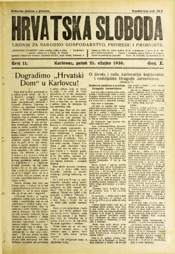 Hrvatska sloboda: 1930. • 11