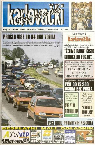 Karlovački tjednik: 2000 • 16