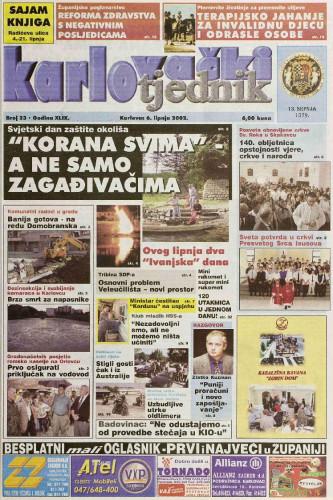 Karlovački tjednik: 2002 • 23