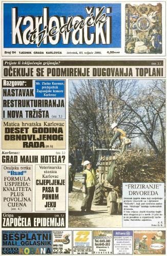 Karlovački tjednik: 2000 • 04