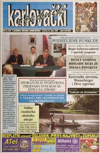 Karlovački tjednik: 2001 • 23