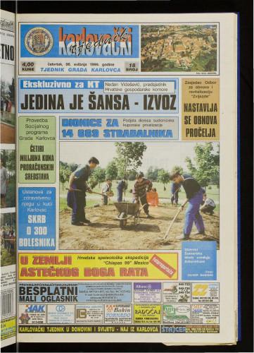 Karlovački tjednik: 1999 • 18