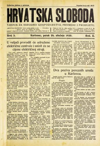Hrvatska sloboda: 1930. • 3