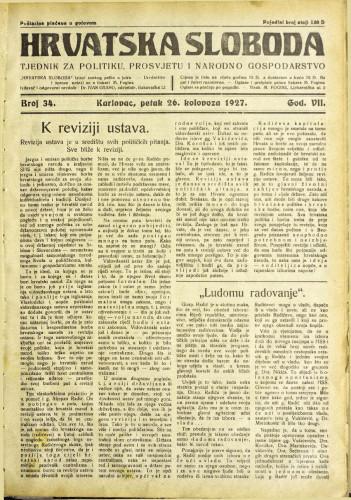 Hrvatska sloboda: 1927. • 34