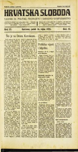 Hrvatska sloboda: 1923 • 37