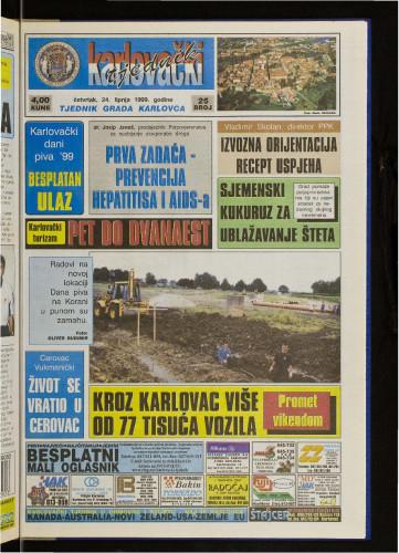 Karlovački tjednik: 1999 • 25