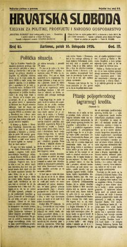 Hrvatska sloboda: 1924. • 41