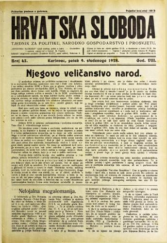 Hrvatska sloboda: 1928. • 45