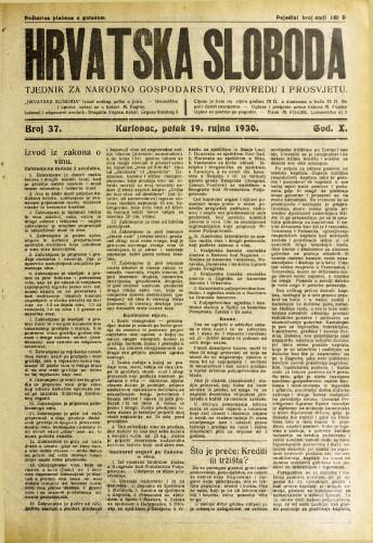 Hrvatska sloboda: 1930. • 37