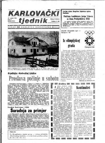 Karlovački tjednik: 1984 • 7