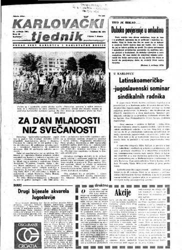 Karlovački tjednik: 1981 • 20