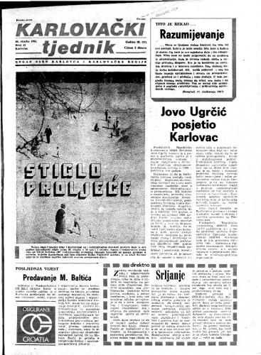 Karlovački tjednik: 1981 • 12