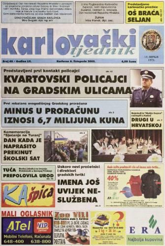Karlovački tjednik: 2005 • 40