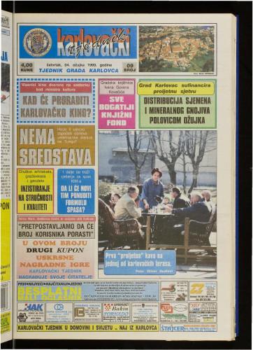 Karlovački tjednik: 1999 • 9