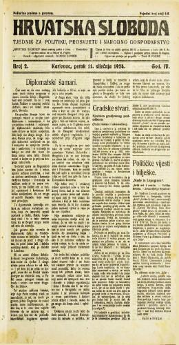 Hrvatska sloboda: 1924. • 2