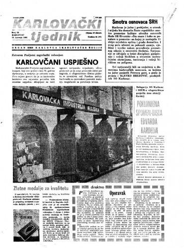 Karlovački tjednik: 1984 • 15