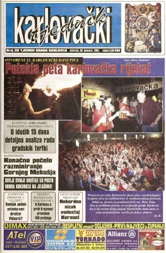 Karlovački tjednik: 2001 • 35