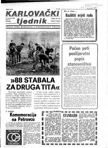 Karlovački tjednik: 1981 • 13
