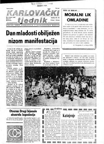 Karlovački tjednik: 1981 • 21