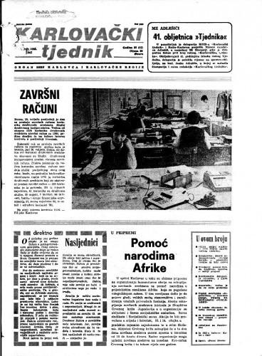 Karlovački tjednik: 1985 • 8
