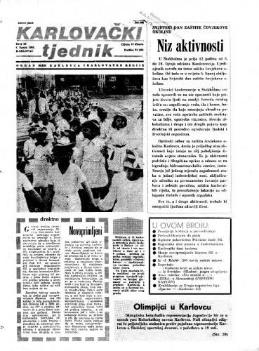Karlovački tjednik: 1984 • 22