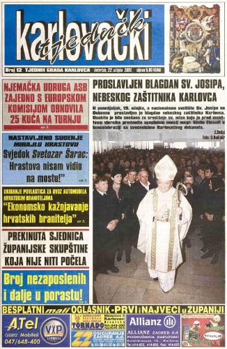 Karlovački tjednik: 2001 • 12