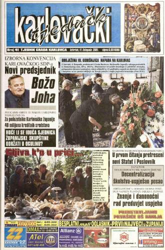 Karlovački tjednik: 2001 • 41