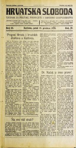 Hrvatska sloboda: 1924. • 50