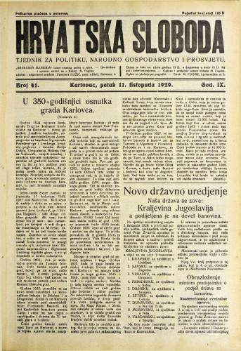 Hrvatska sloboda: 1929. • 41