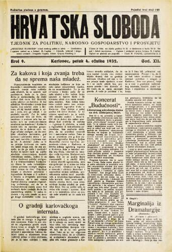 Hrvatska sloboda: 1932. • 9