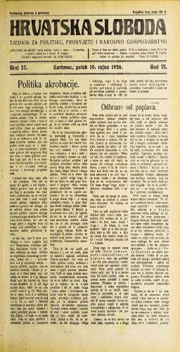 Hrvatska sloboda: 1926. • 37
