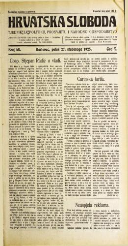 Hrvatska sloboda: 1925. • 48