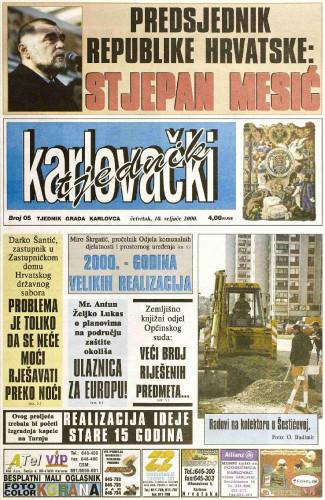 Karlovački tjednik: 2000 • 05