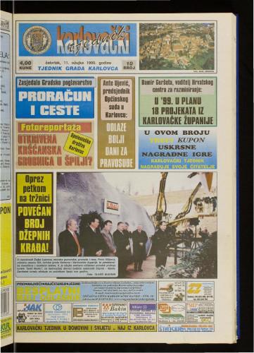 Karlovački tjednik: 1999 • 10