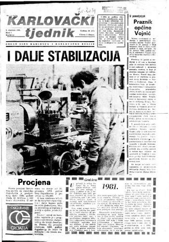 Karlovački tjednik: 1981 • 1