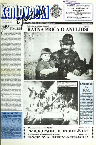 Karlovački tjednik: 1991 • 38