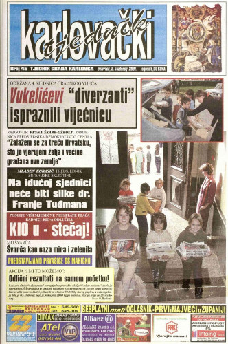 Karlovački tjednik: 2001 • 45