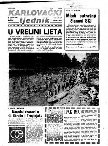 Karlovački tjednik: 1981 • 31