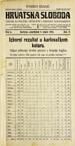 Hrvatska sloboda: 1925. • 6