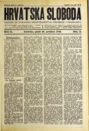 Hrvatska sloboda: 1930. • 51