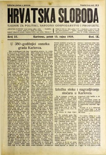 Hrvatska sloboda: 1929. • 37